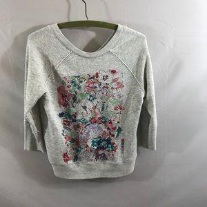 Anthropologie Postmark Embroidered sweatshirt